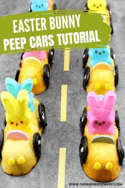 EASTER BUNNY PEEPS CARS