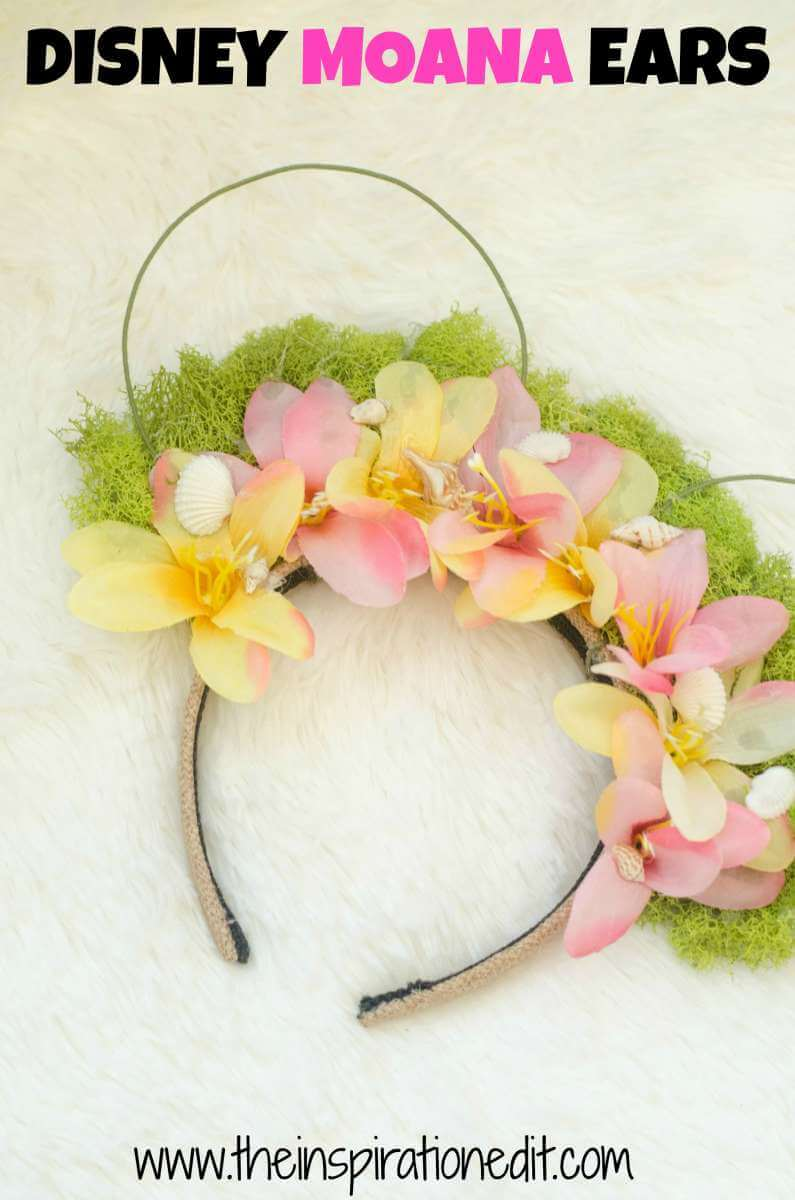 Looking for Disney inspired crafts? Try these Moana Disney Ears!