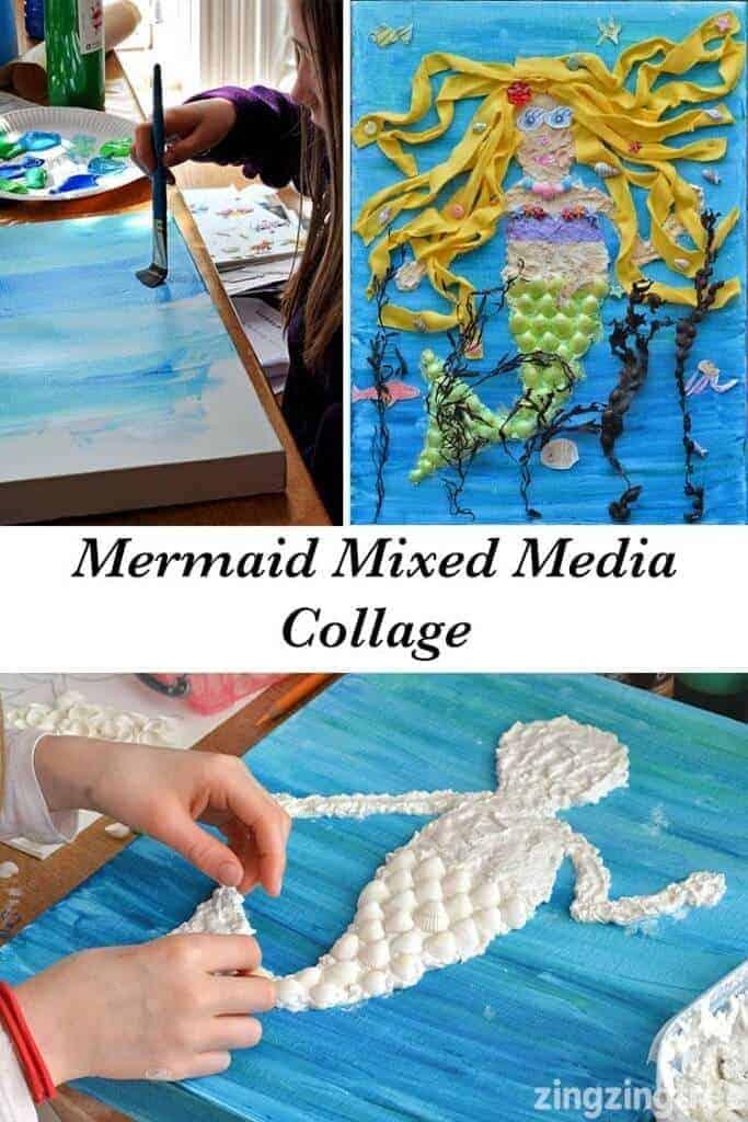 Mermaid-Mixed-Media-Collage-