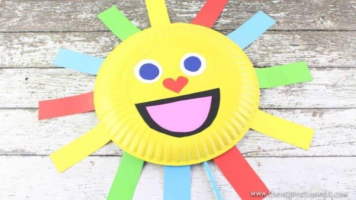 summer sun paper plate craft