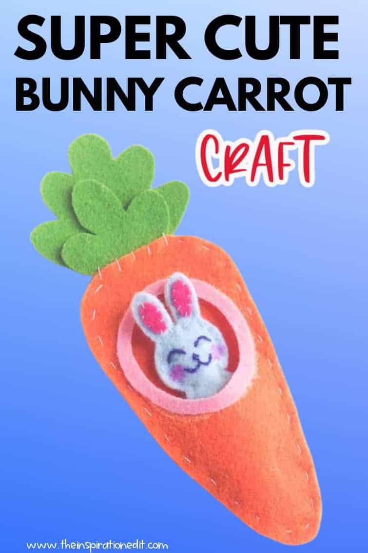bunny carrot craft