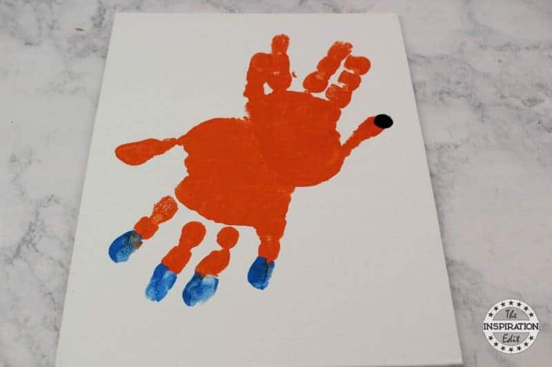 Socks Handprint Canvas