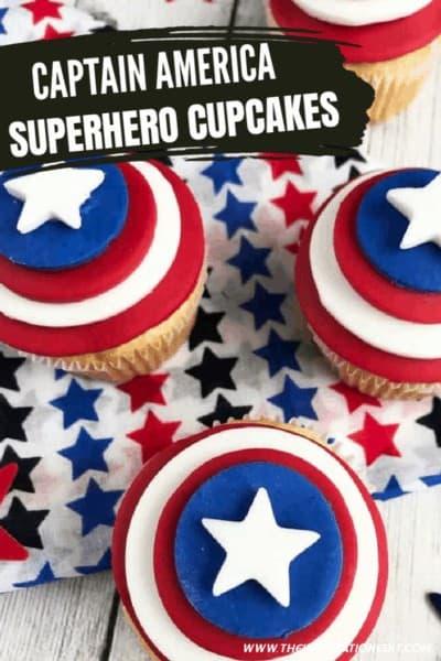 Captain America Superhero Cupcakes copy