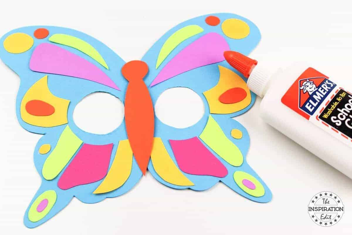 DIY Kids Butterfly Mask With Free Template