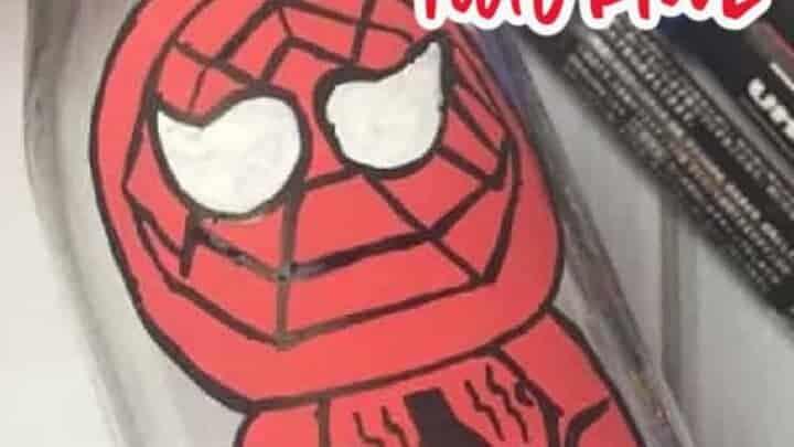 spiderman bottle craft