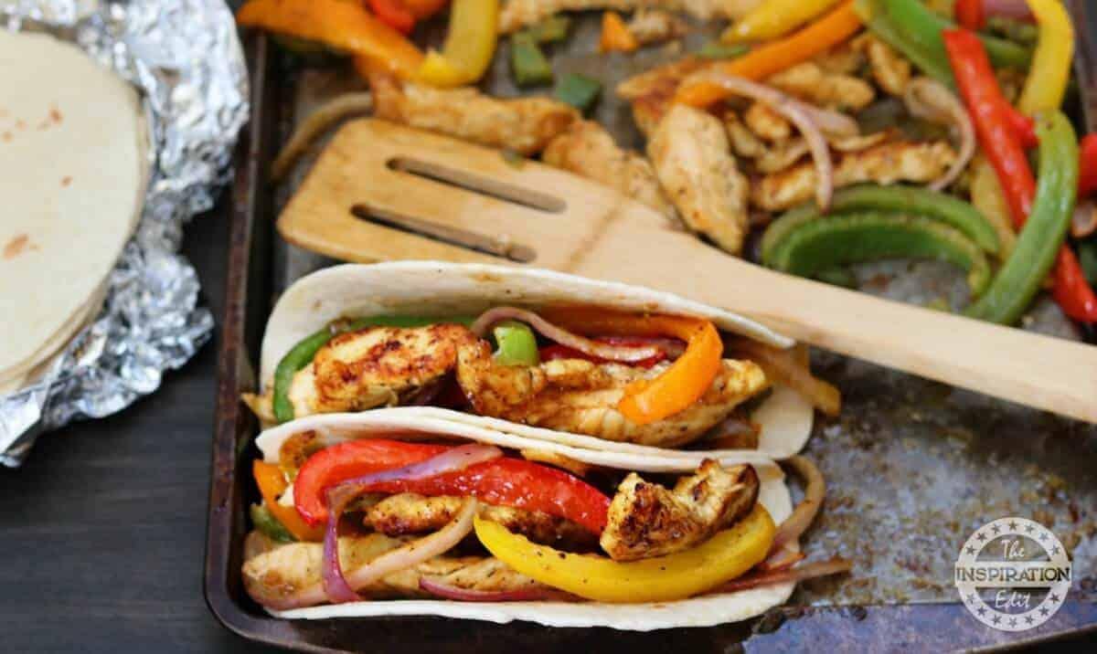Weight Watchers healthy chicken fajitas recipe