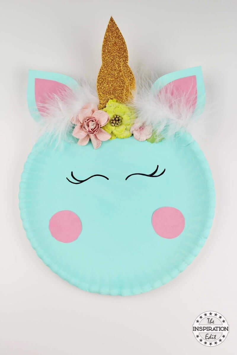 DIY Unicorn Paper Plate Tutorial With Free Template