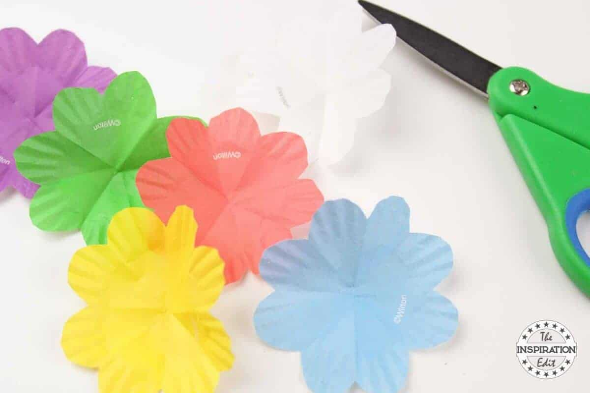 paper cup flower craft kids