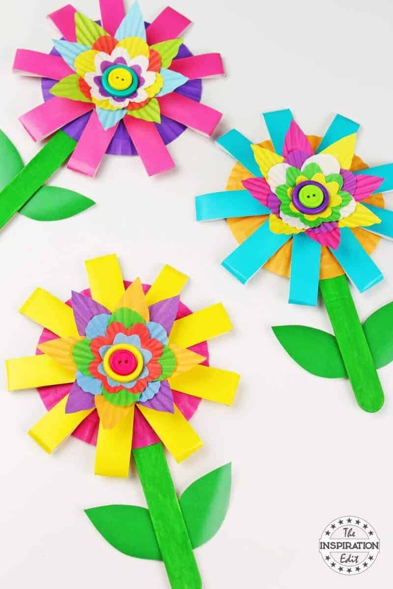 kids flower craft for preschool