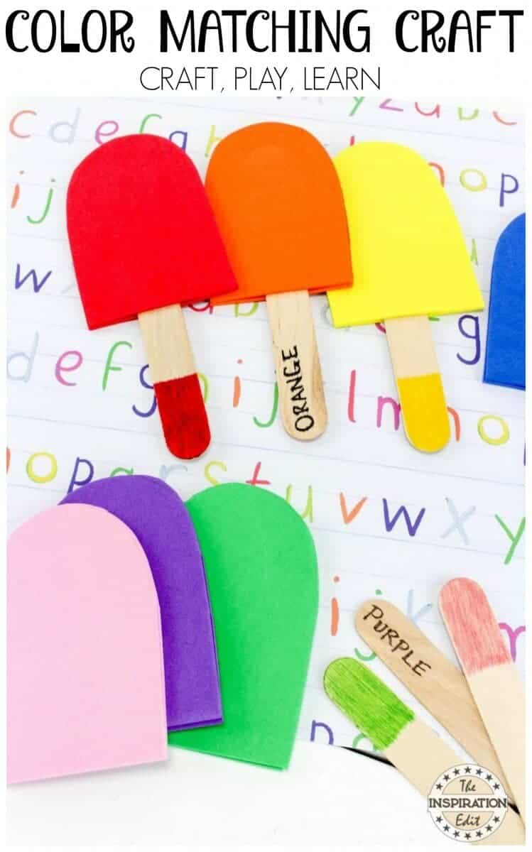 color matching popsicle craft