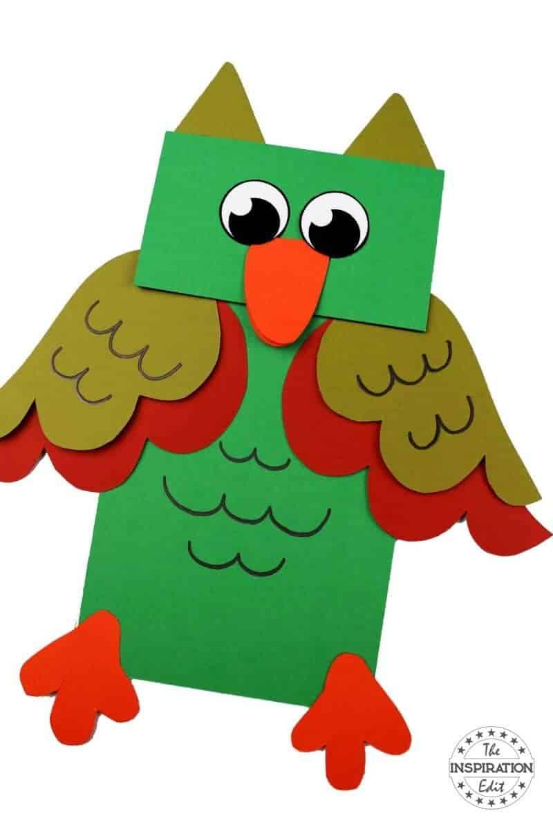 owl puppet owl craft fr kids