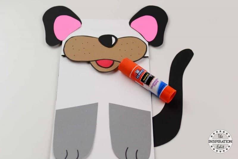 easy paper bag dog puppet