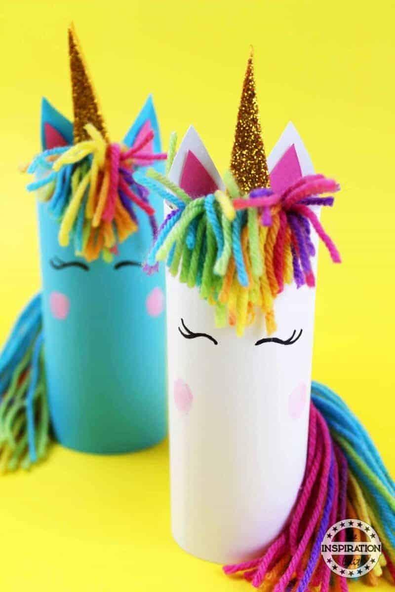 Toilet tube unicorn craft for kids