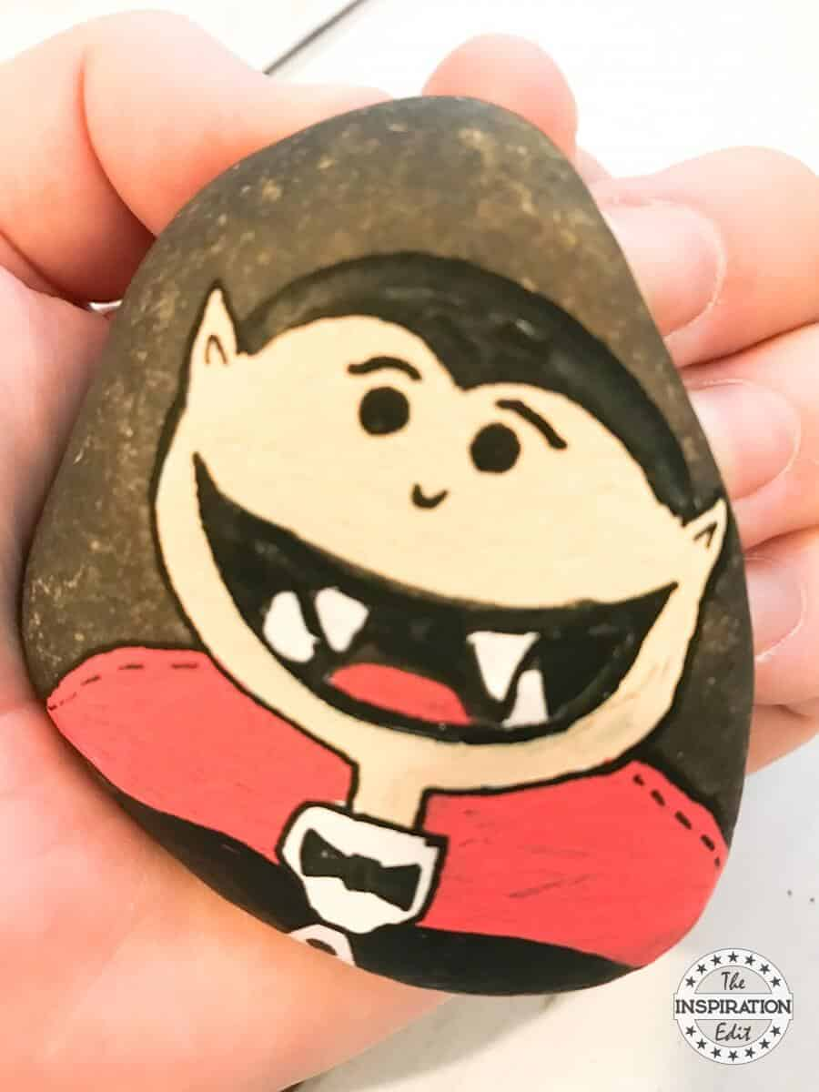 vampire painted rock