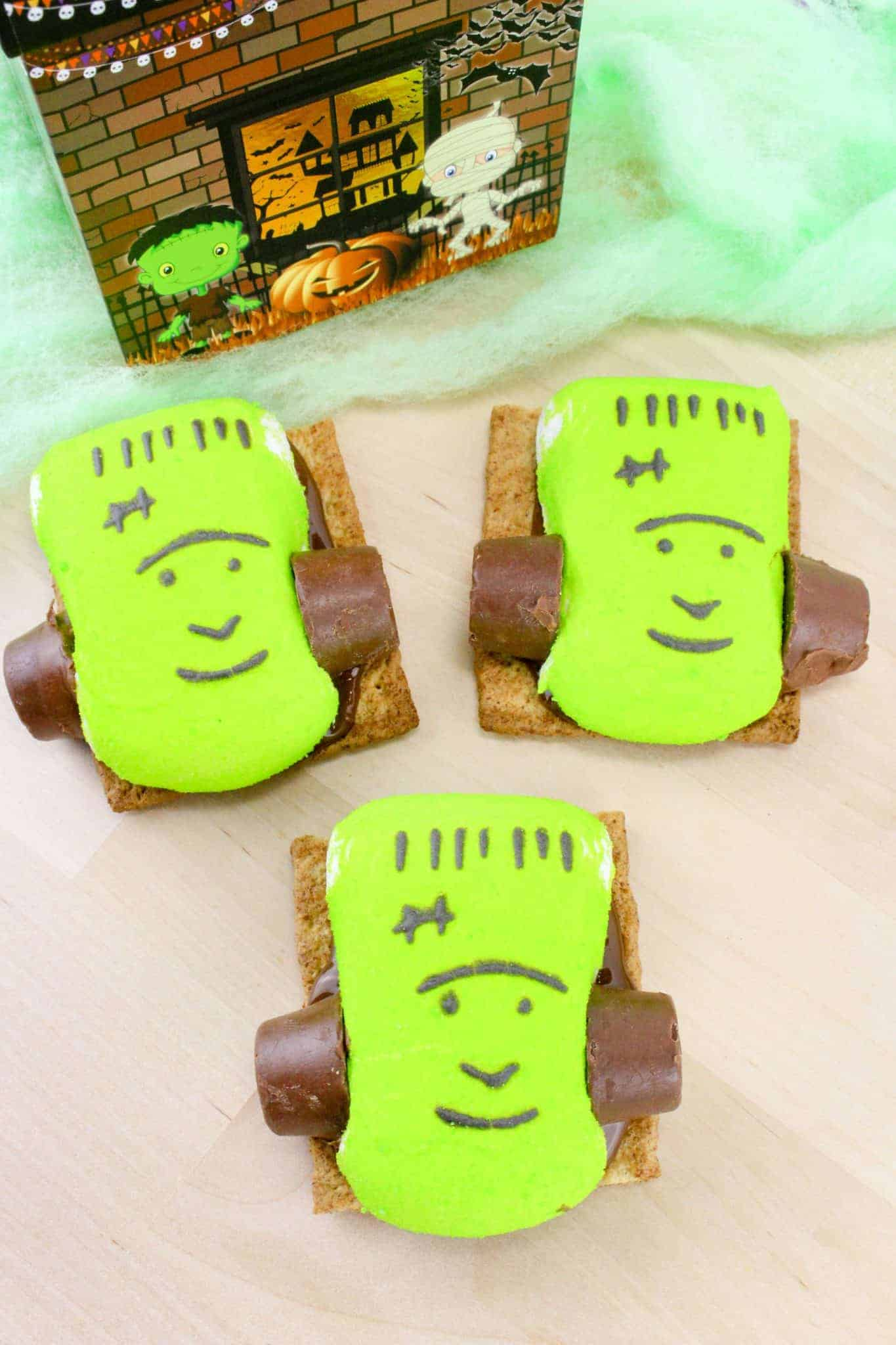 frankenstein smores halloween treats