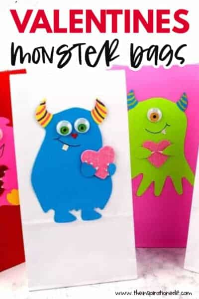 valentines monster bags