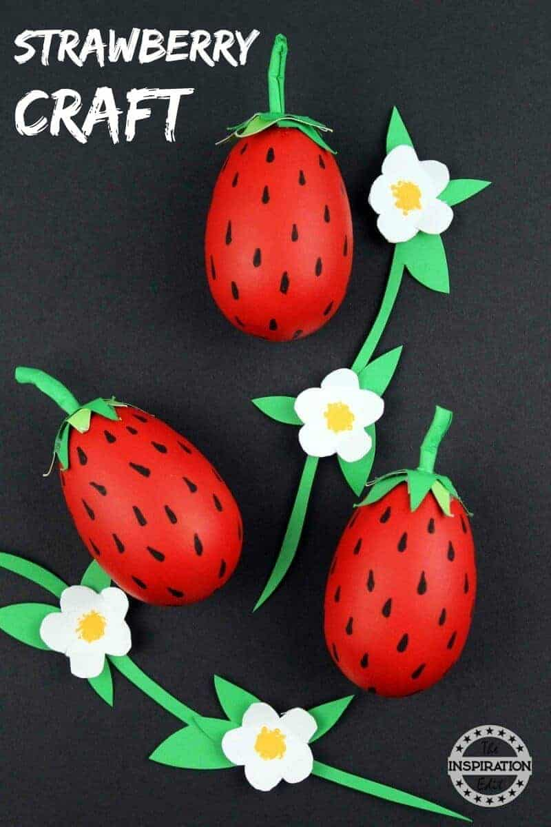 easy strawberry crafts for kids
