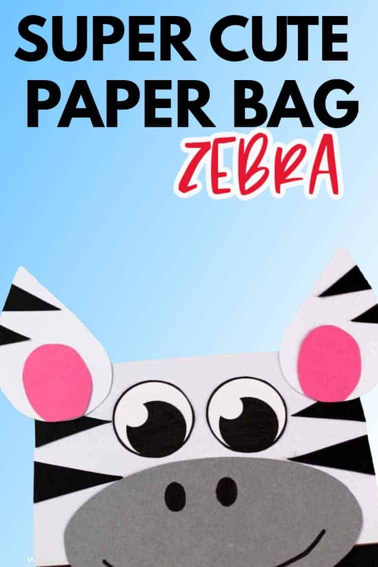 paper bag zebra