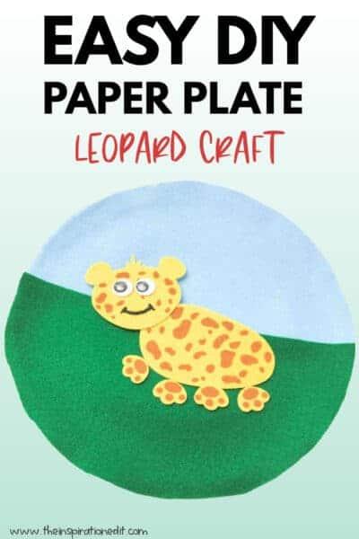paper plate leopard