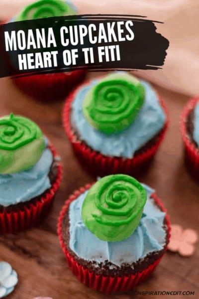 Moana Cupcakes Heart Of Ti Fiti