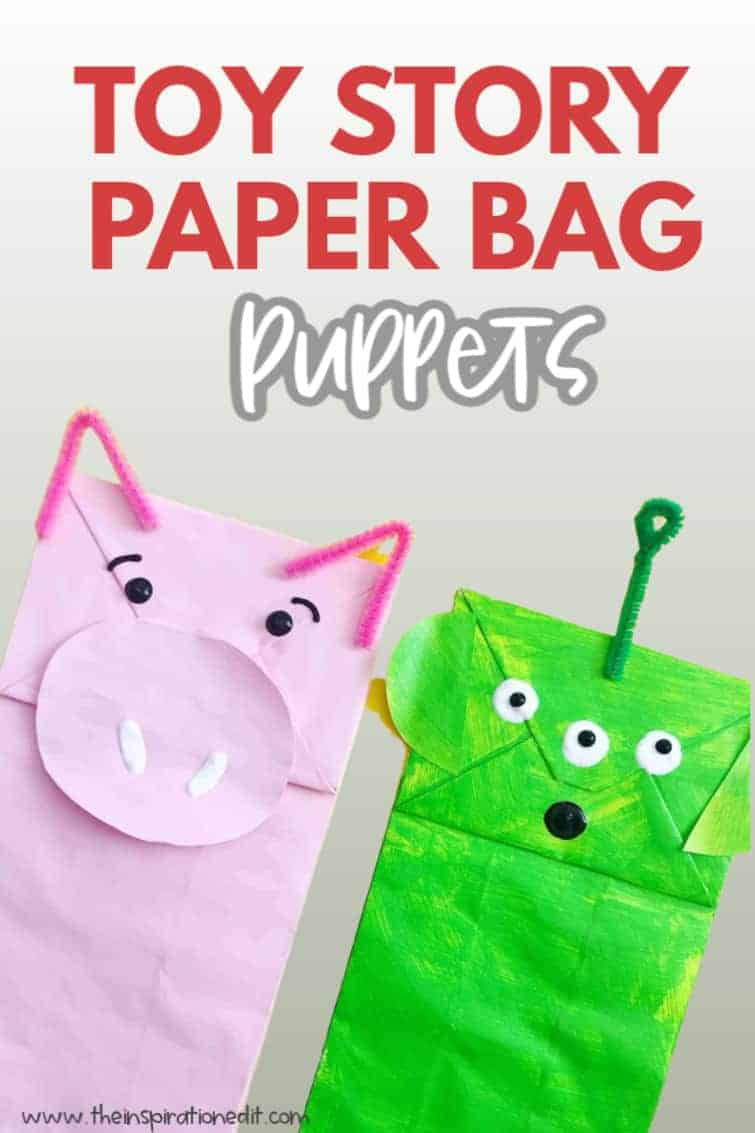 Toy story craft paper bag puppets