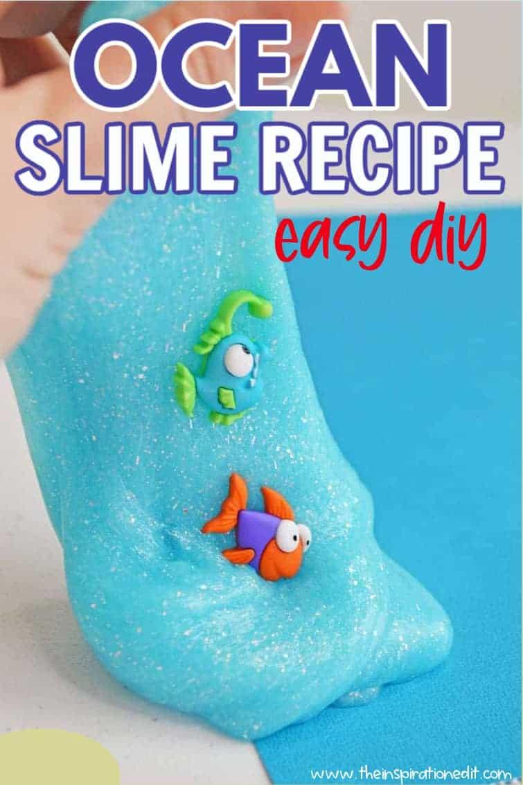 ocean slime recipe easy diy