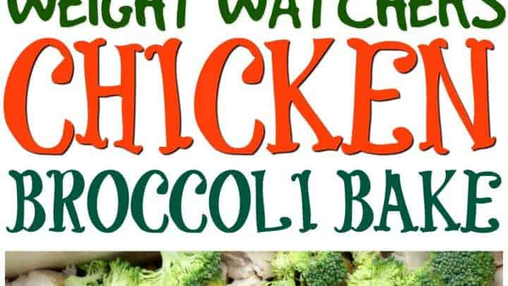 chicken broccoli casserole - only 5 points on the weight watchers plan