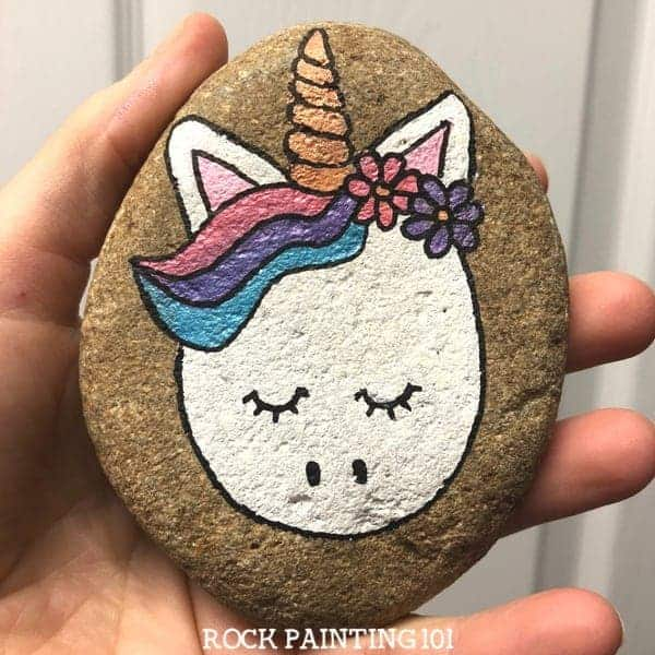 painted rock stone