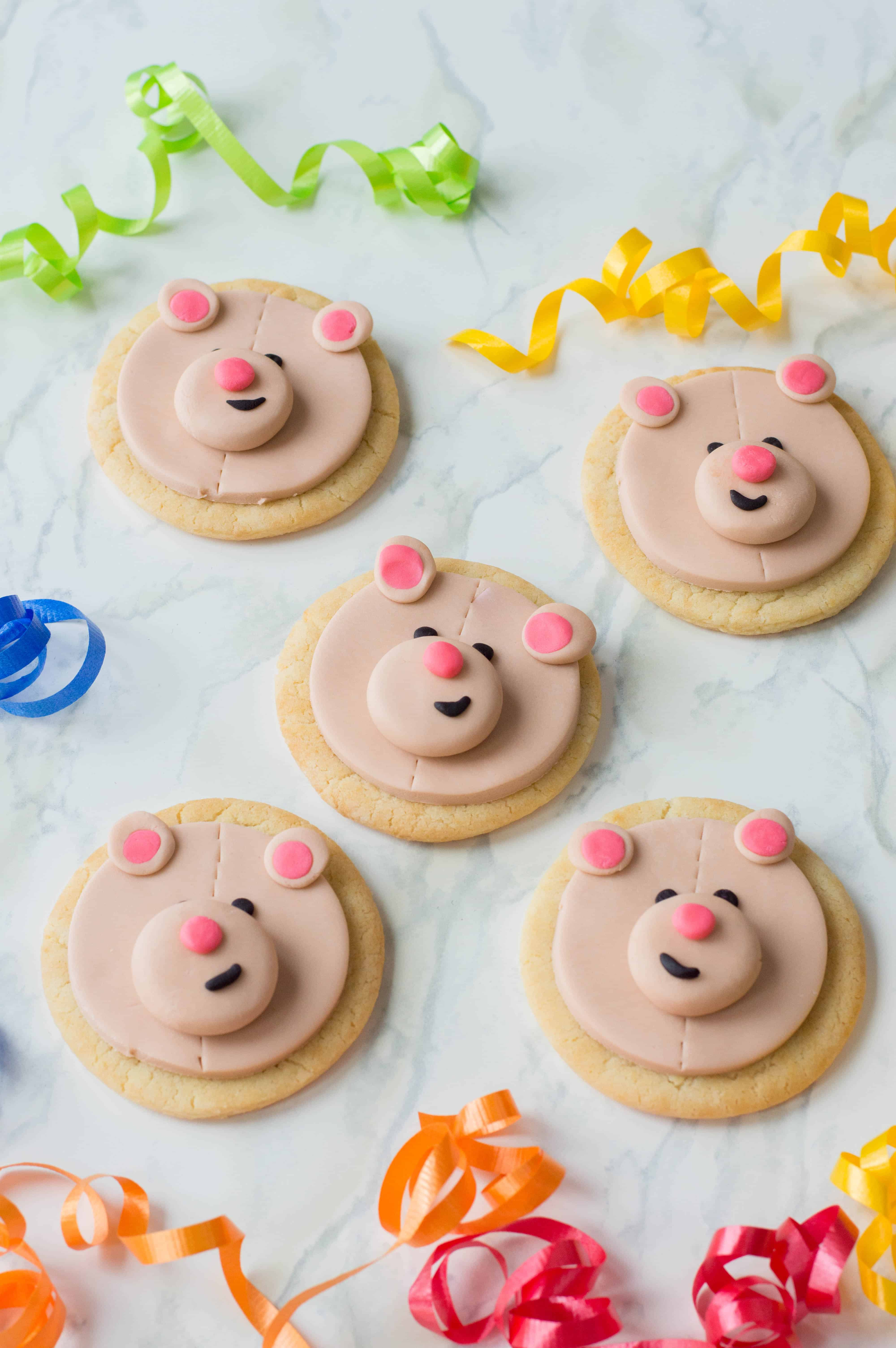 Finished teddy bear cookies