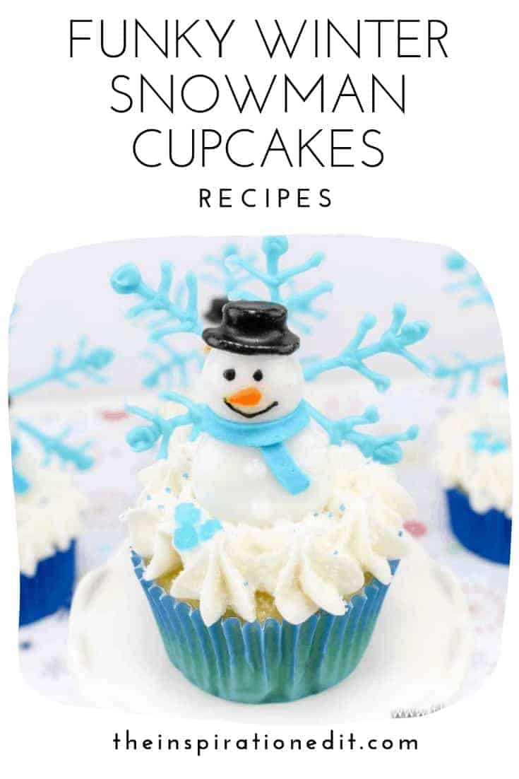 winter snowman cupcakes