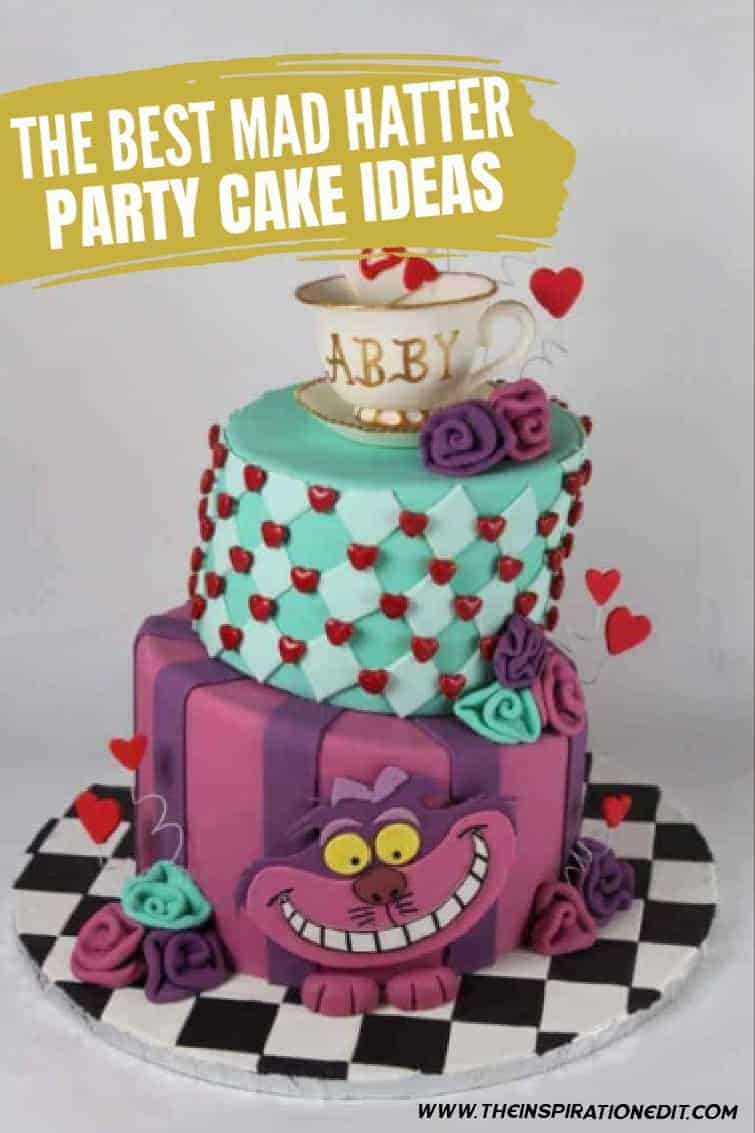 mad hatter cakes for alice in wonderland party