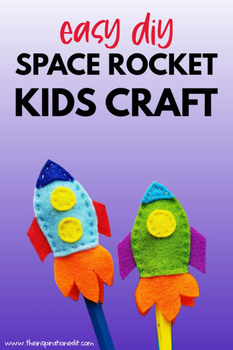space rocket pencil toppers