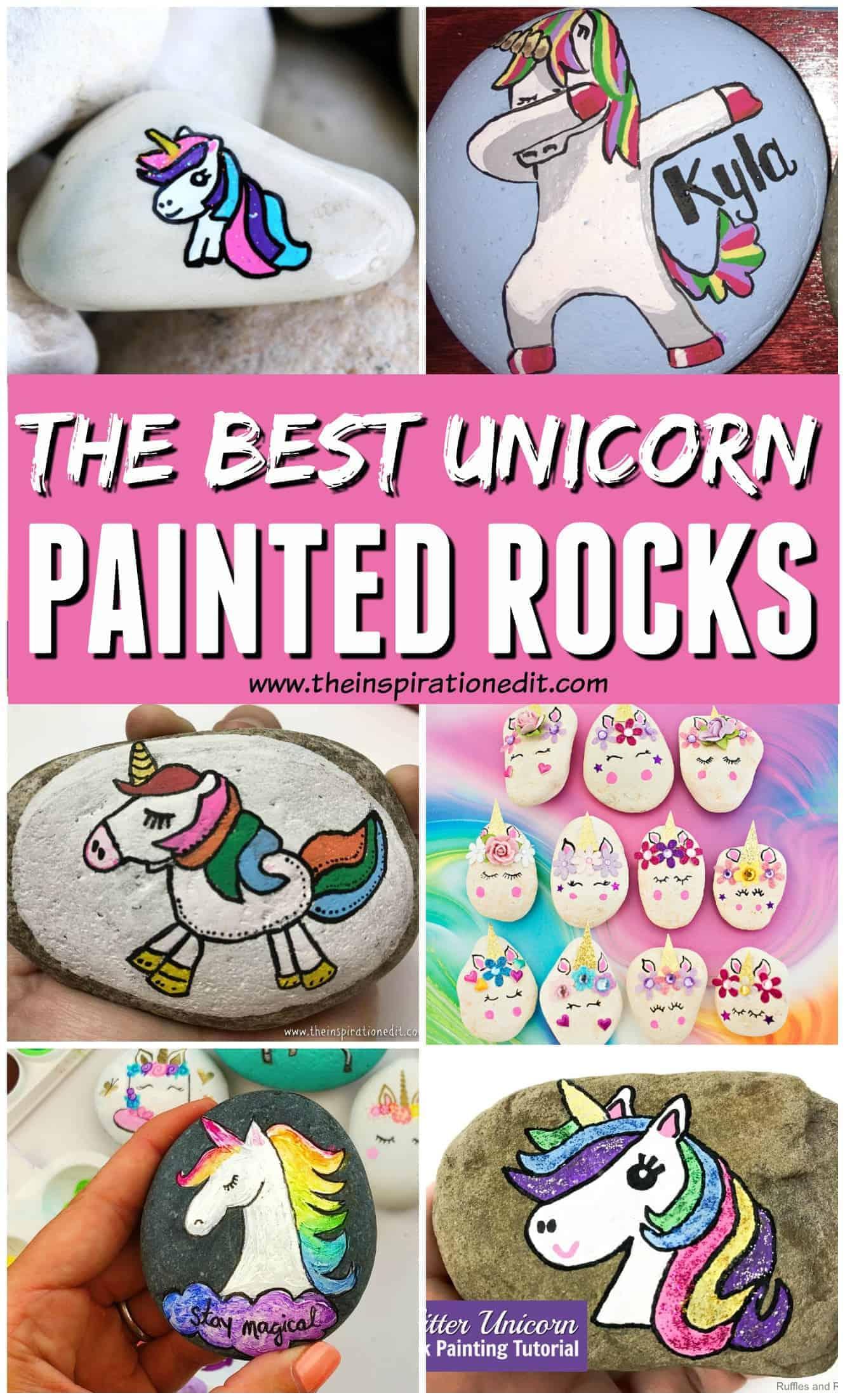 unicorn rock painting ideas