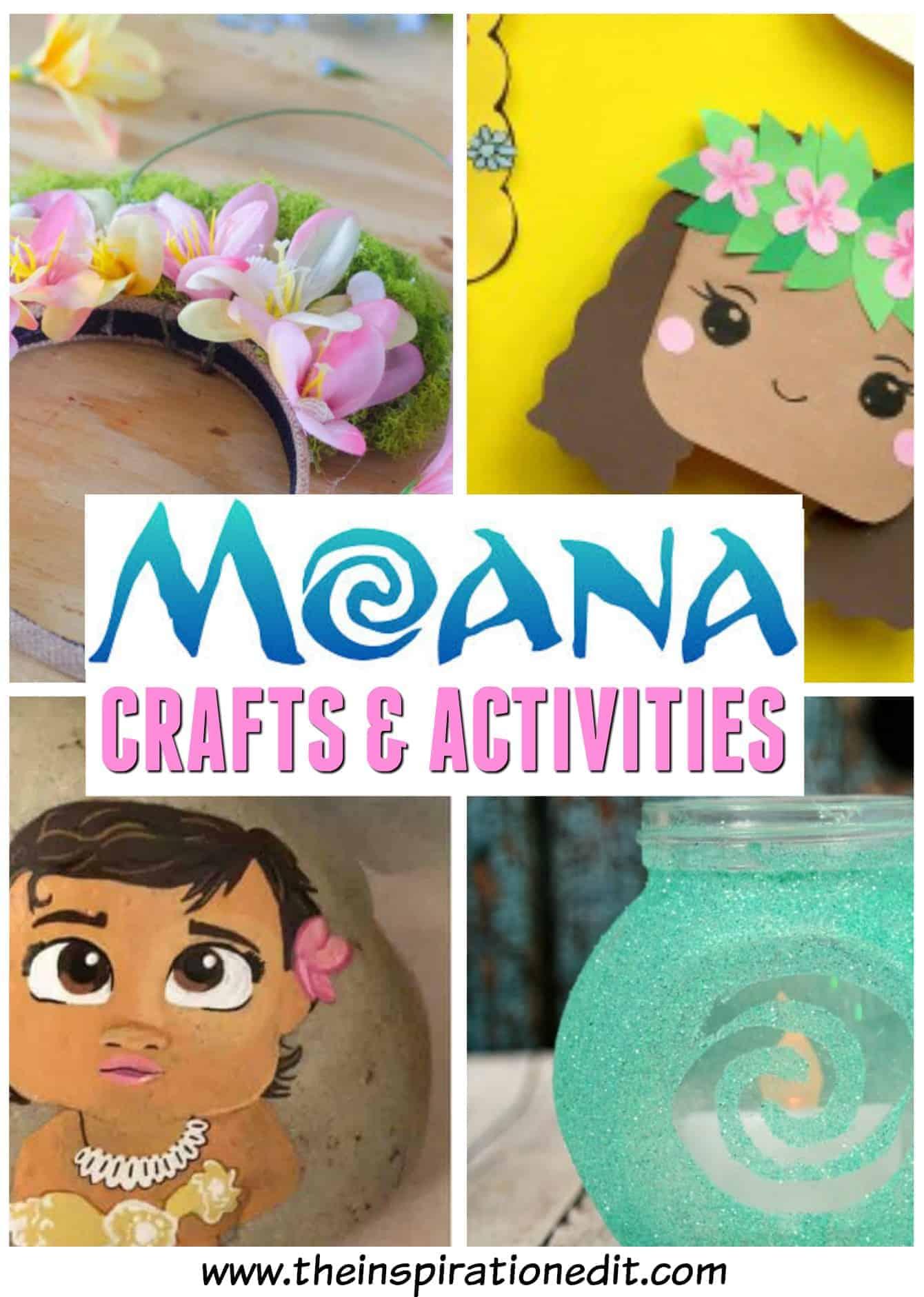 disney moana crafts for your moana party