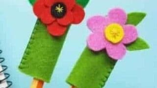 poppy pencil toppers
