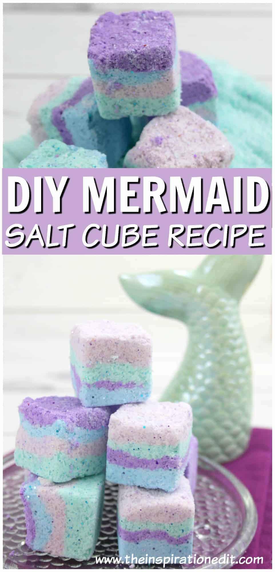 how to make mermaid salt scrub squares