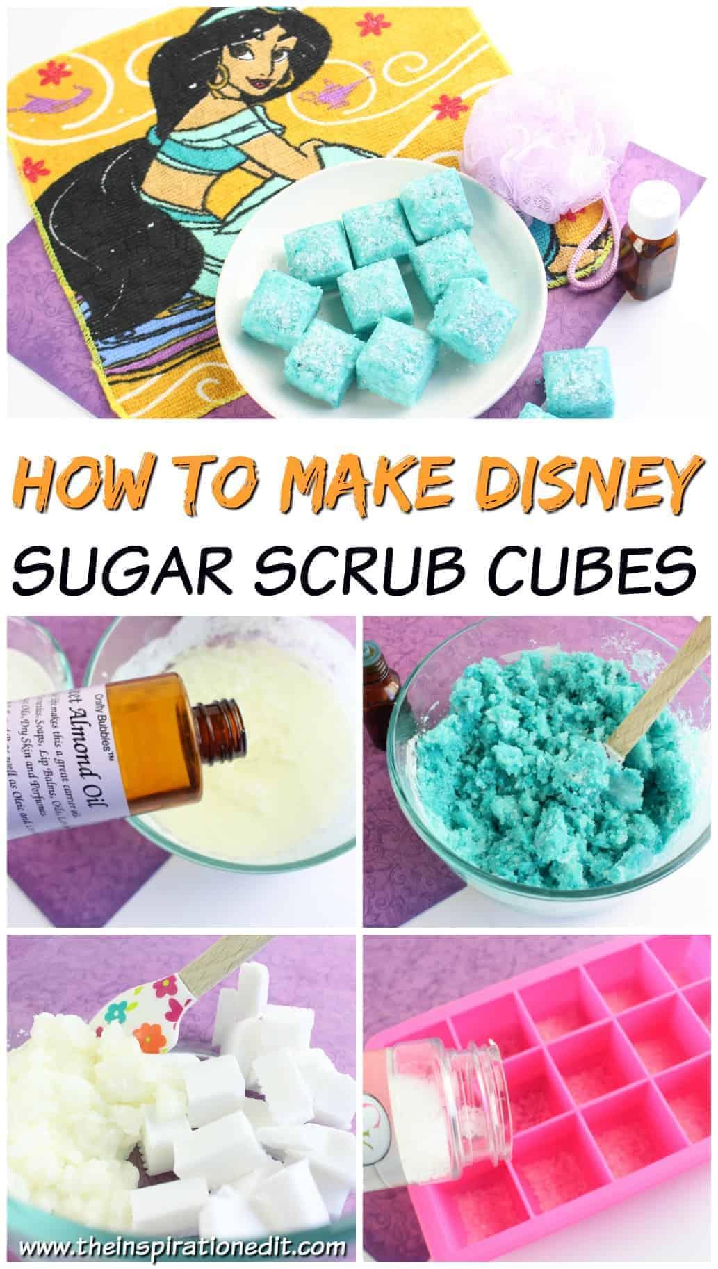 How to Make Disney Sugar Scrub Cubes Pin