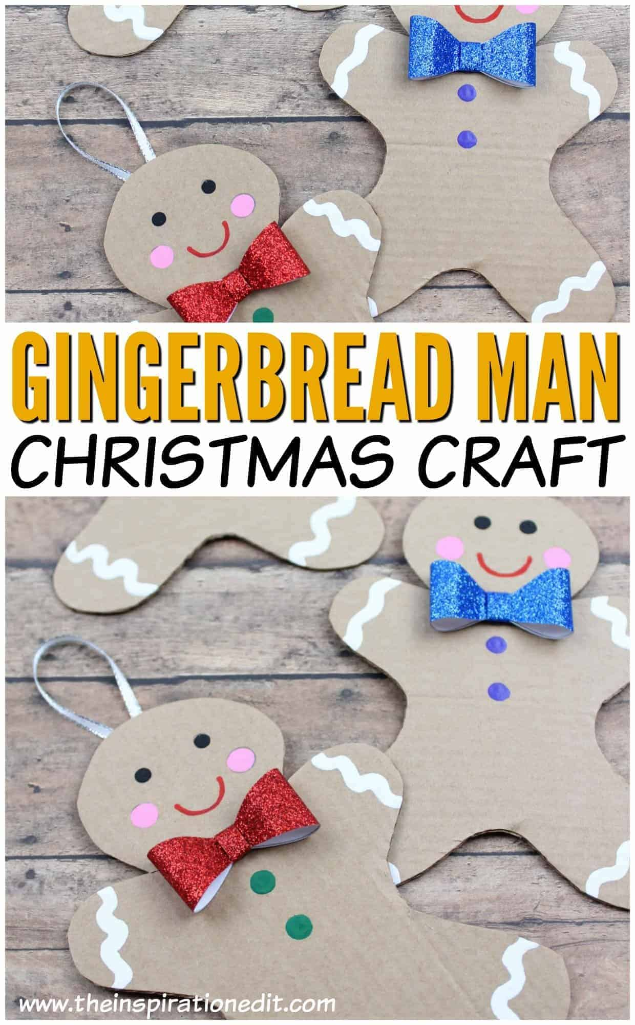 Gingerbread man craft to pin to your Pinterest