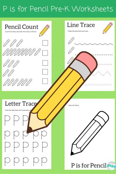 letter p worksheets for preschool kids