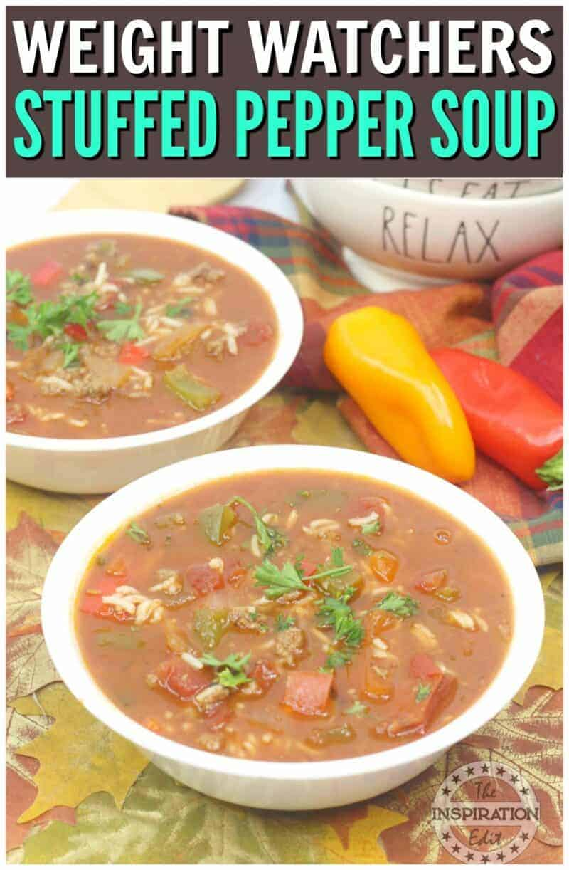 STUFFED PEPPER SOUP with weight watchers points
