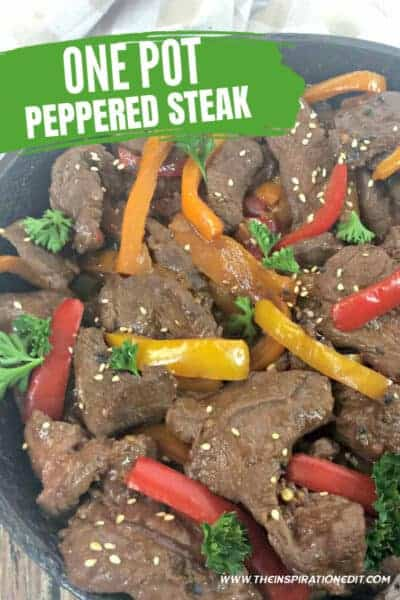 ONE POT PEPPERED STEAK