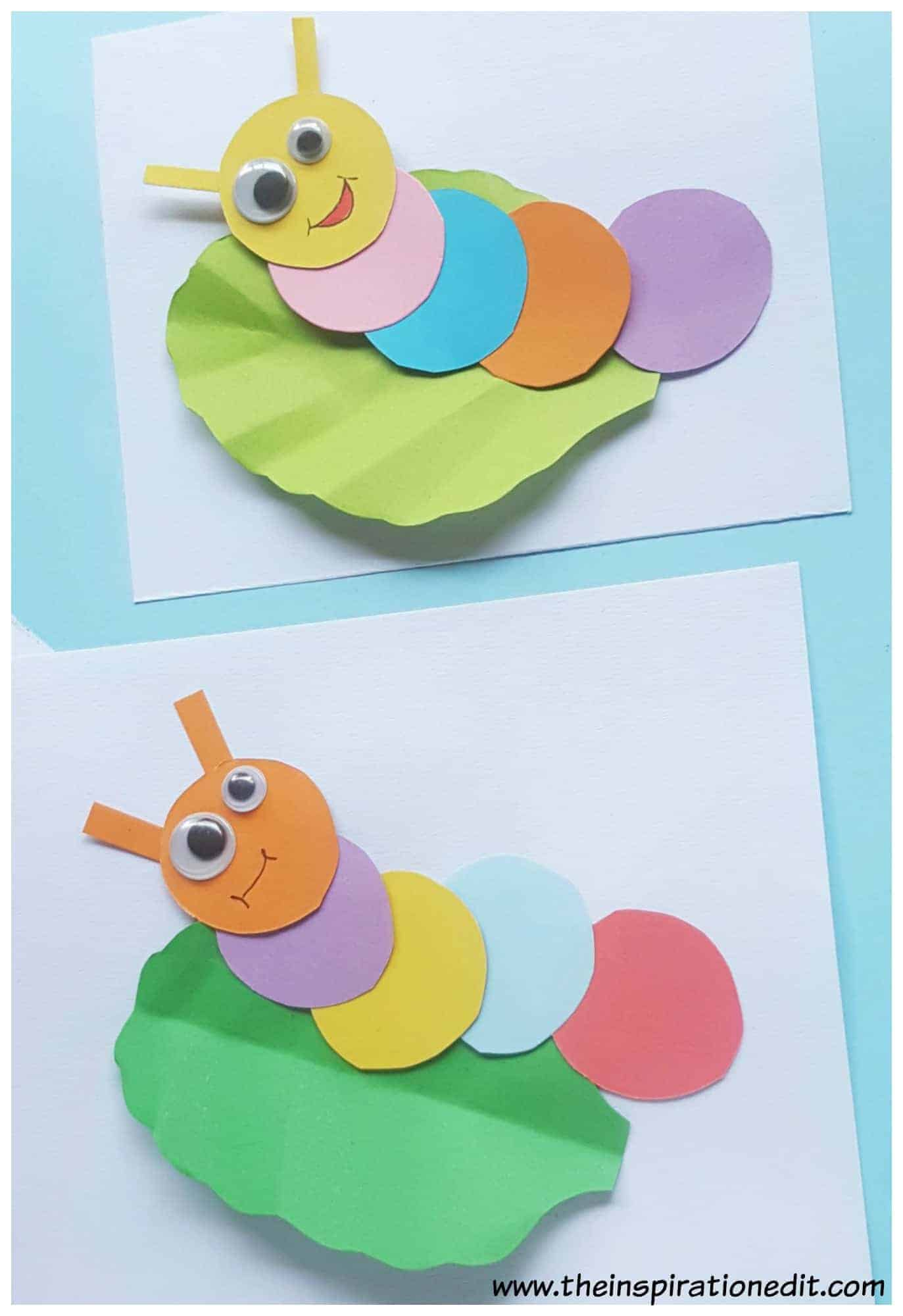 Finished Paper Caterpillar Craft