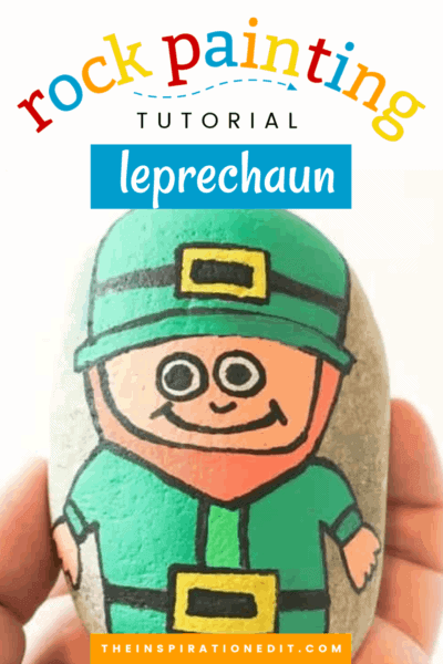 leprechaun painted rock