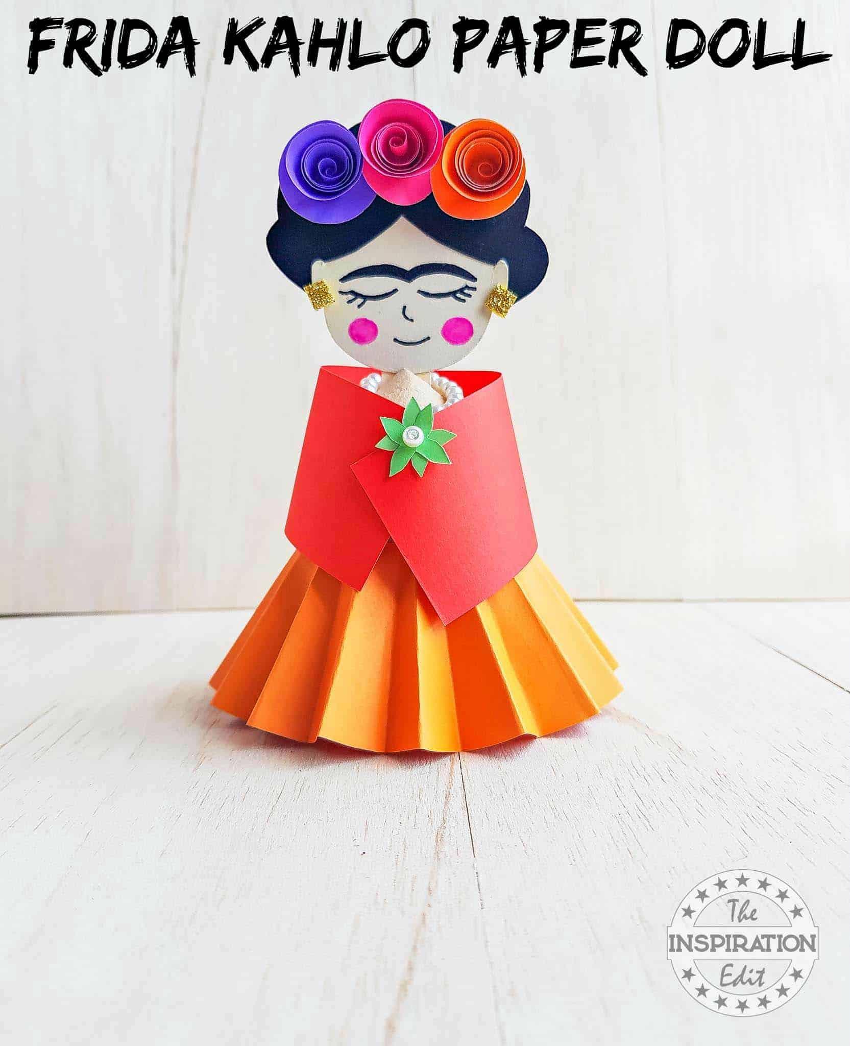 Frida Khalo Paper Doll Craft