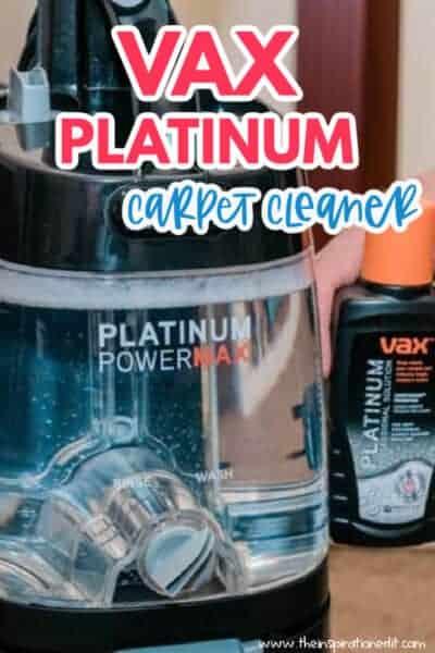 VAX PLATINUM CARPET CLEANER
