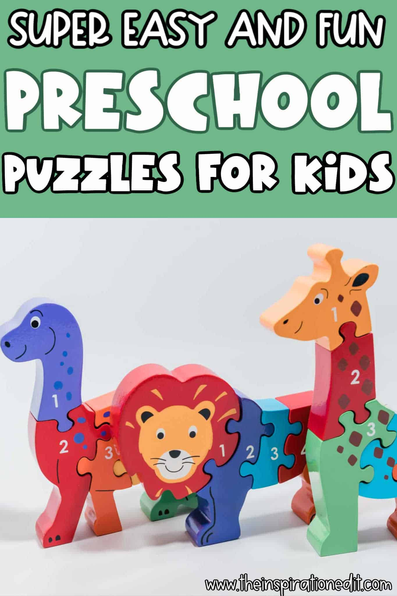 Super Easy and Fun Preschool Puzzles for Kids