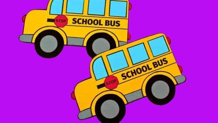 School bus paper craft
