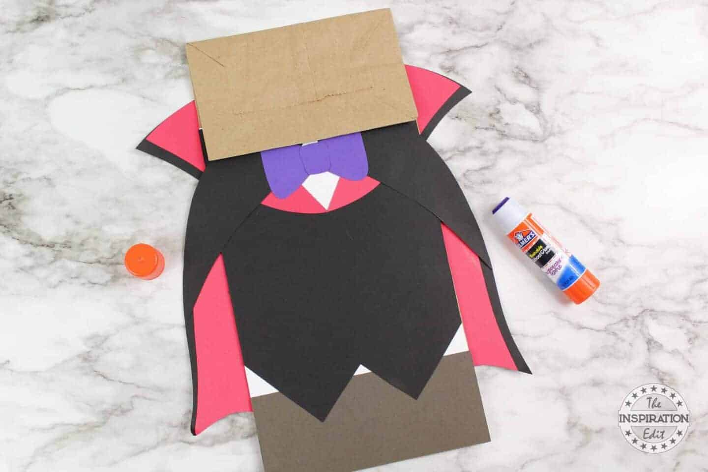 add a paper bow tie to vampire craft