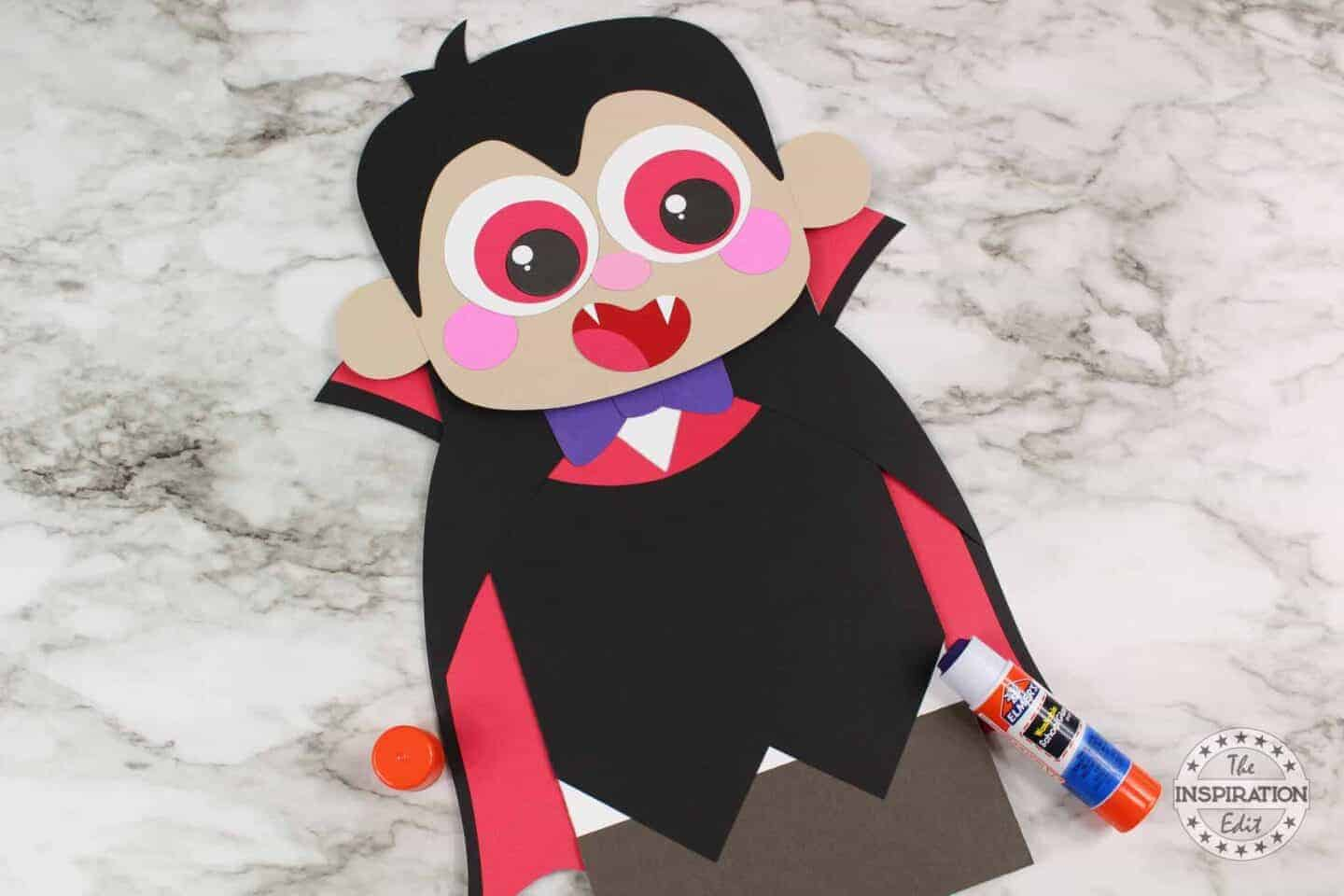 completed vampire craft for kids