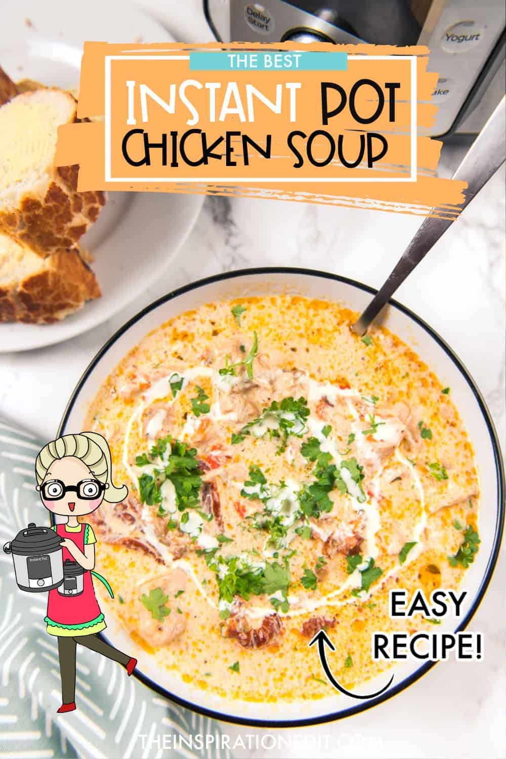 CREAMY-Instant-pot-chicken-soup